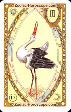 The stork, monthly Love and Health horoscope May Taurus