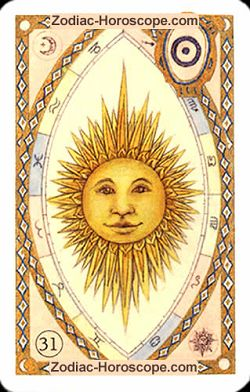 The sun, monthly Love and Health horoscope August Taurus