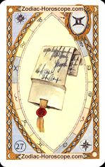 The letter astrological Lenormand Tarot