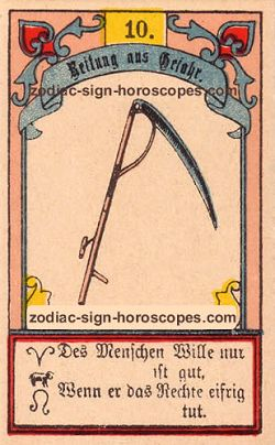 The scythe, monthly Taurus horoscope April