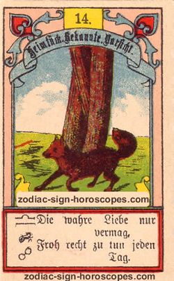 The fox, monthly Taurus horoscope April