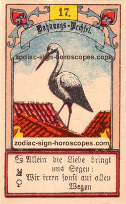 The stork, monthly Taurus horoscope May