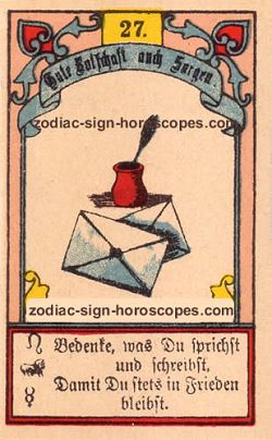 The letter, monthly Taurus horoscope May