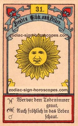 The sun, monthly Taurus horoscope April