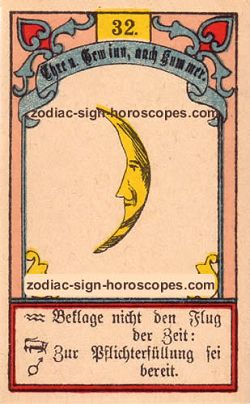 The moon, monthly Taurus horoscope April